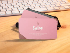 Salon Hairstylist Business Card Mockup