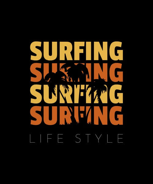 Surfing Tshirt Template