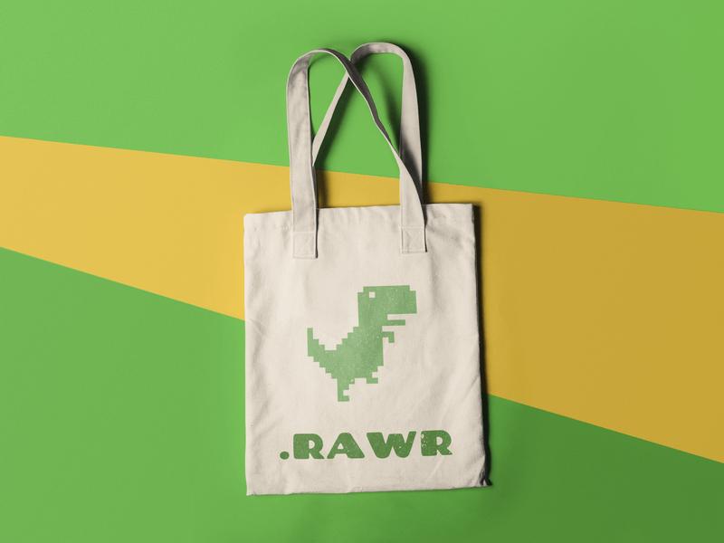 Dinosaur Tote Bag Mockup