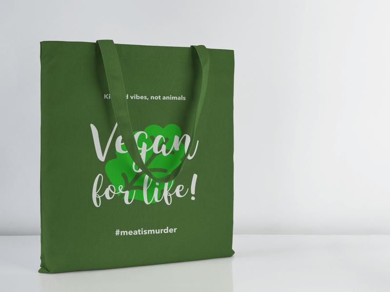 Vegan Life Tote Bag Mockup