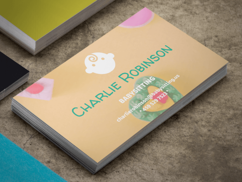 The best business card mockups placeit blog babysitter business card friedricerecipe Gallery