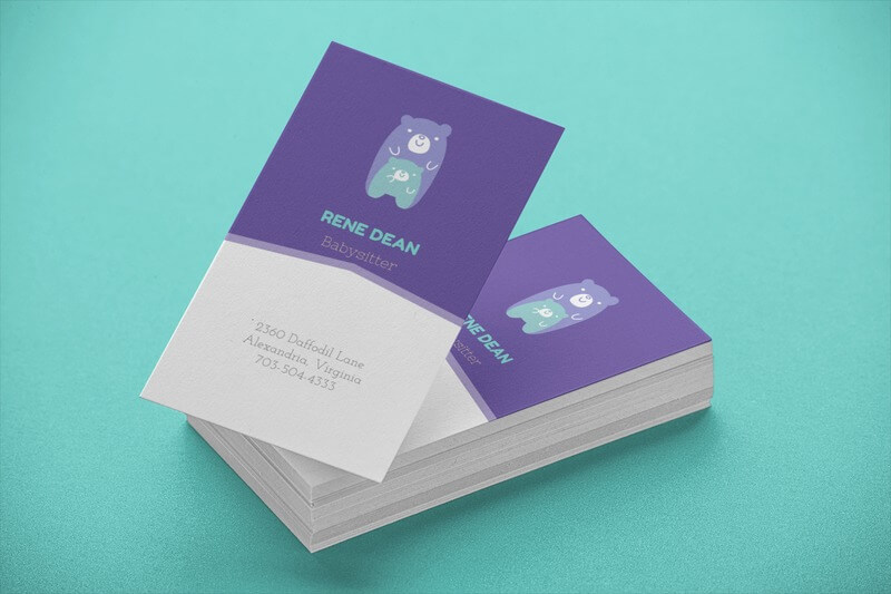 Business Card Template Of Stacked Cards