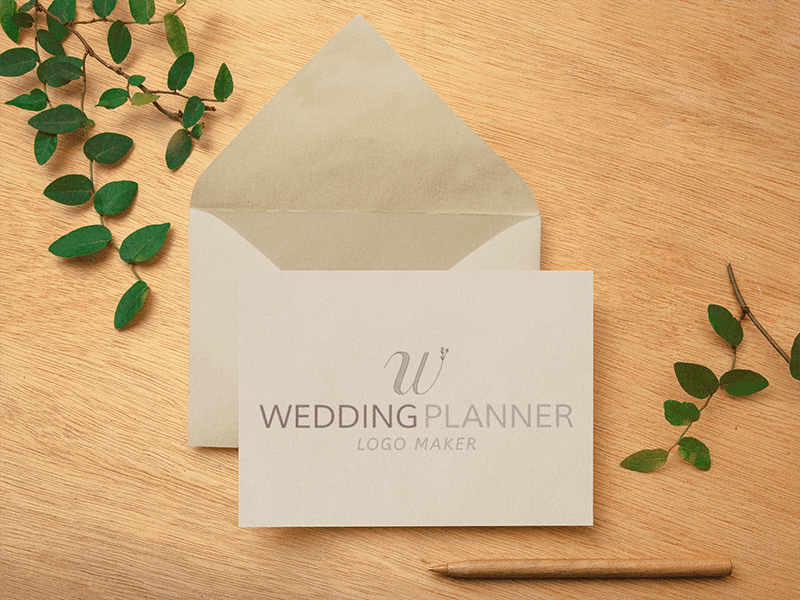 Event Planner Logo on a Notecard Mockup
