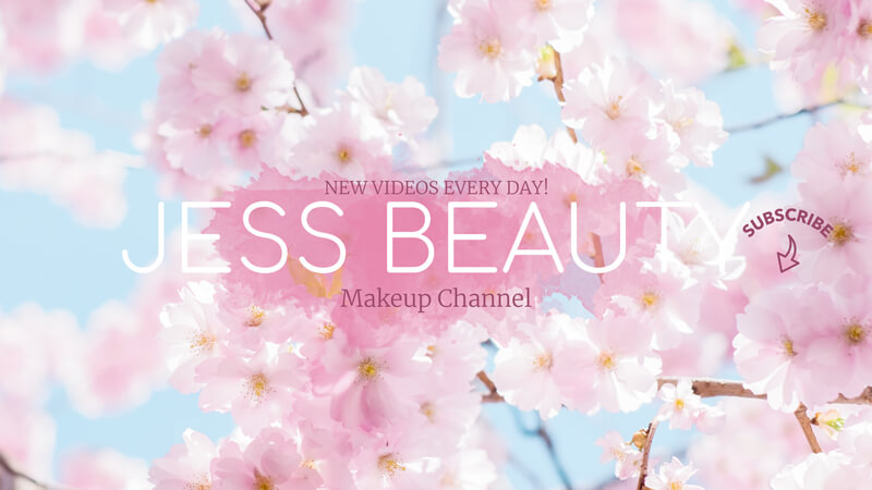 Youtube Banner for Makeup Business with Flower Background