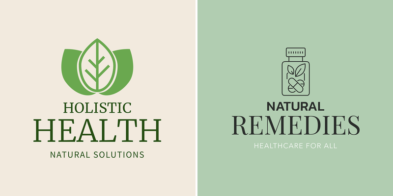 Alternative Medicine Logo Maker With Green Graphics