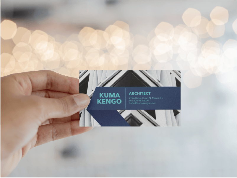 Architecture Business Card Blue