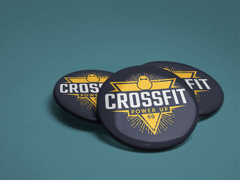 Button Mockup For A Crossfit Gym