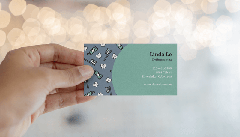 Dentist Business Card Design Template2
