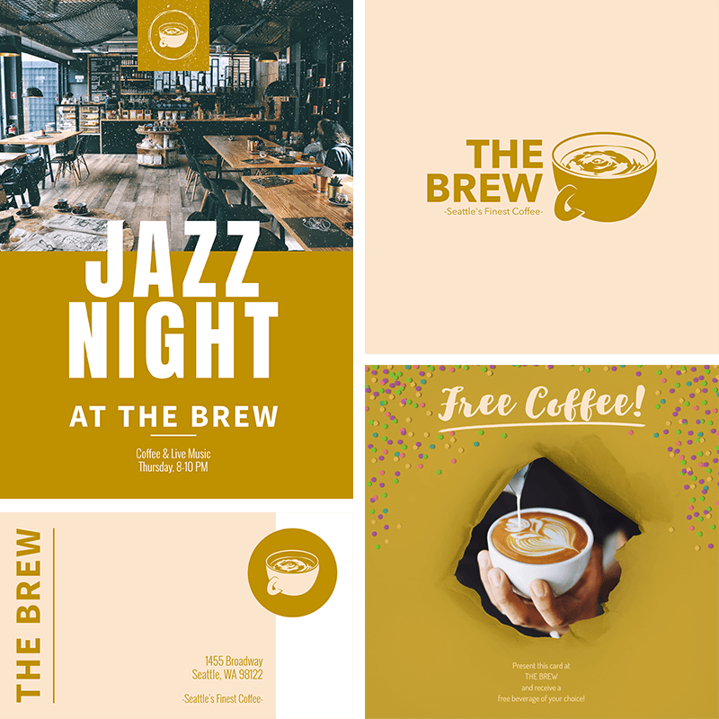 Design Templates For Coffee Shop Assets