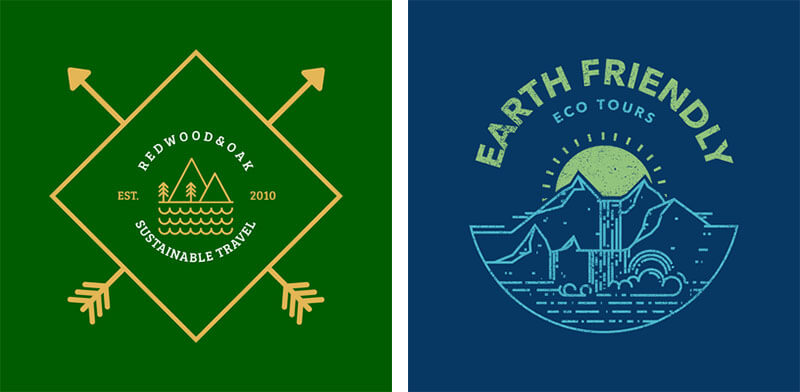 Eco Travel Logo Examples