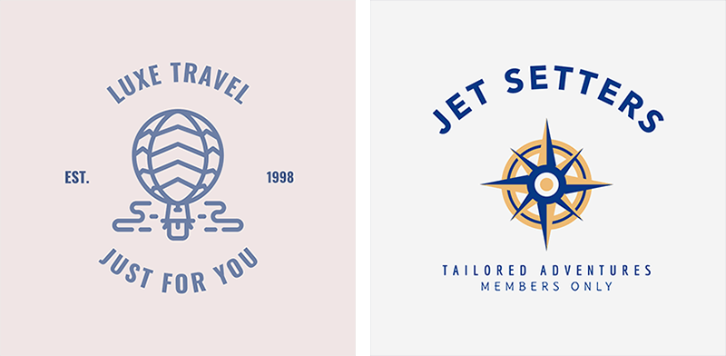 Luxe Travel Logo Examples