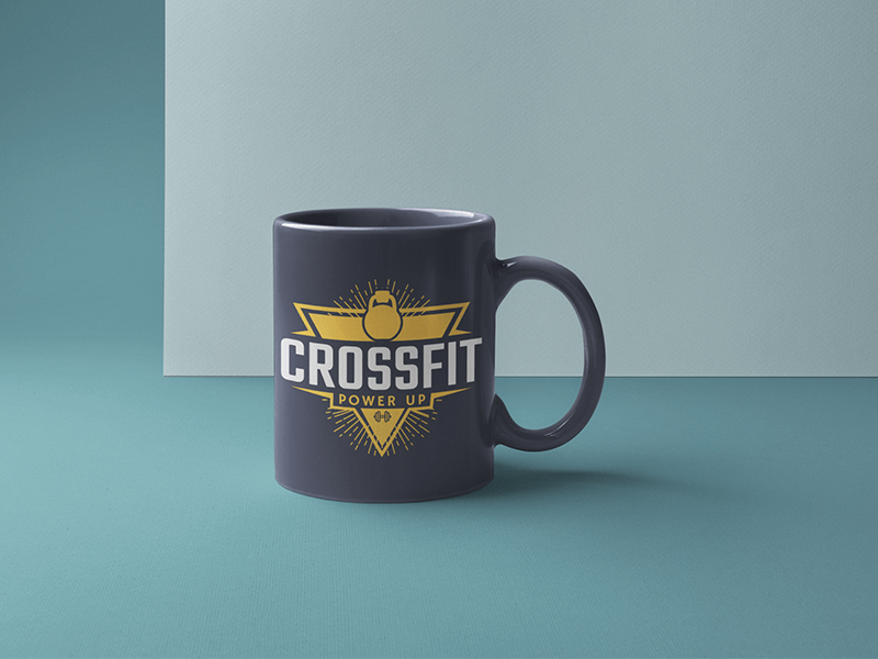 Mug Mockups For A Crossfit Gym