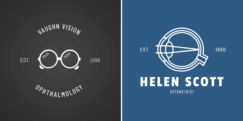 Optometrist Logo Maker With Eyeglass Icons