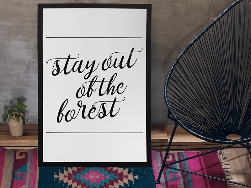Poster Mockup with a Script Font Design