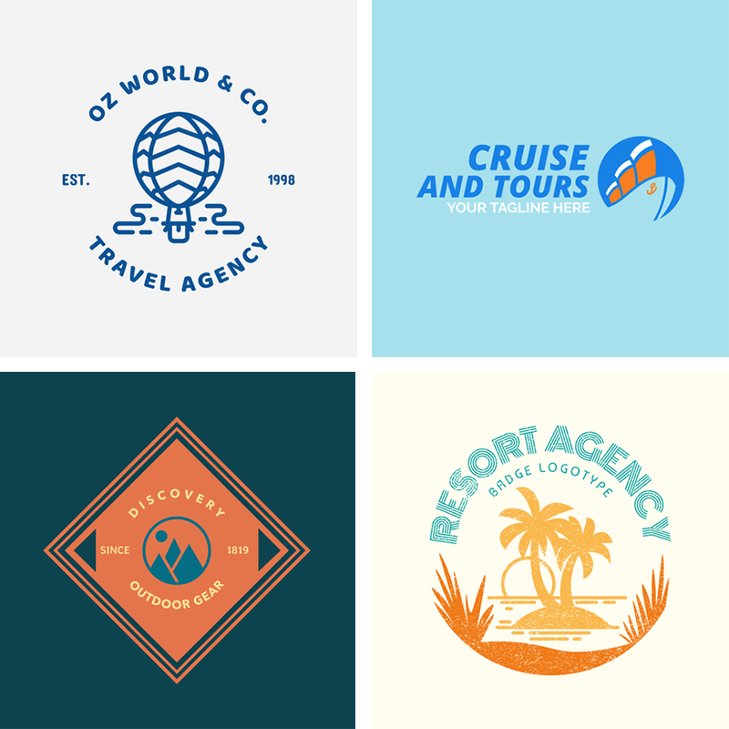 Travel Logo Grid Header