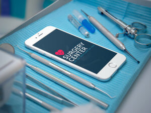 Iphone Mockup Featuring A Healthcare Logo
