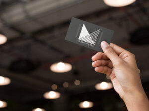 Apparel Logo On A Business Card Mockup