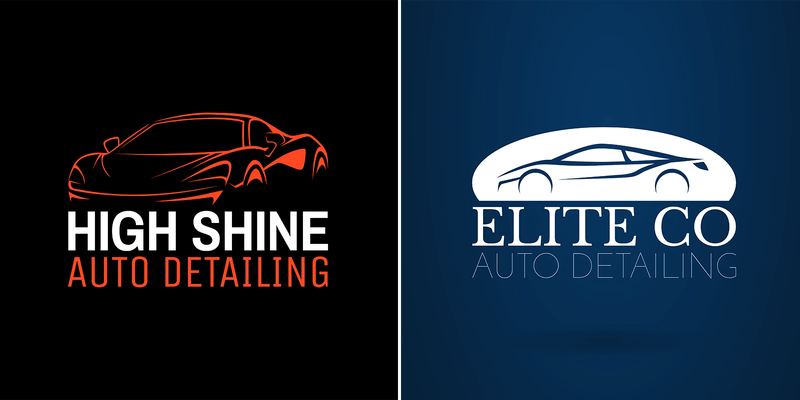 Auto Detailing Logo Maker With Sleek Graphics