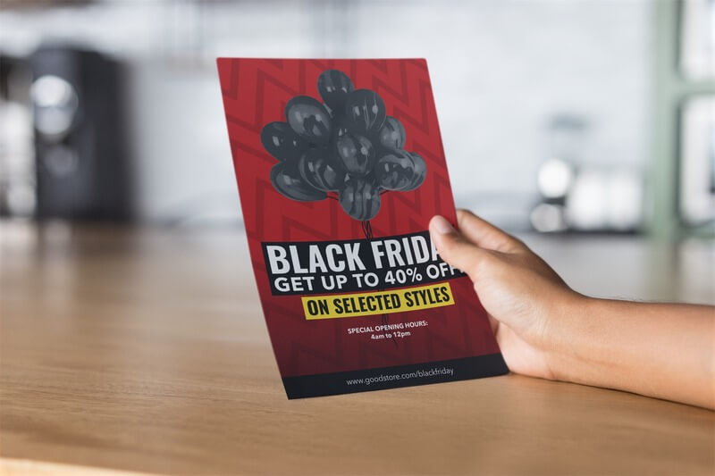Black Friday Flyer Maker On A Mockup