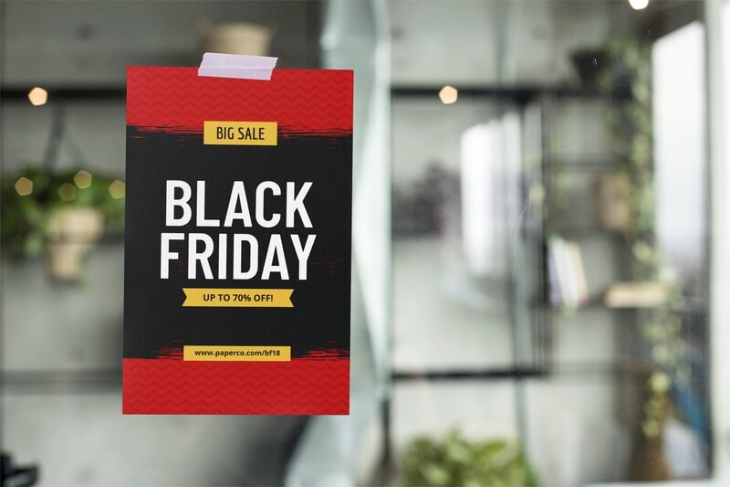 Black Friday Flyer Template On A Flyer Mockup