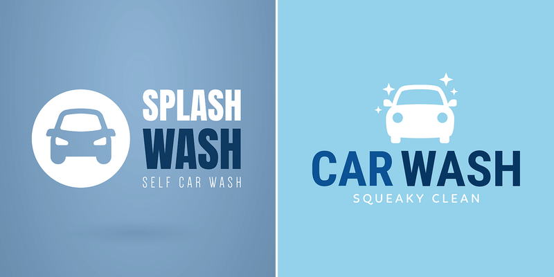Car Wash Logo Maker With Friendly Graphics