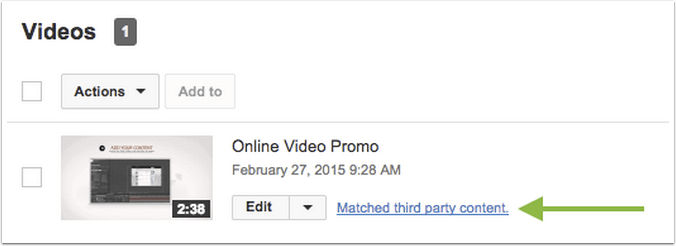 Click The Matched Third Party Content Message