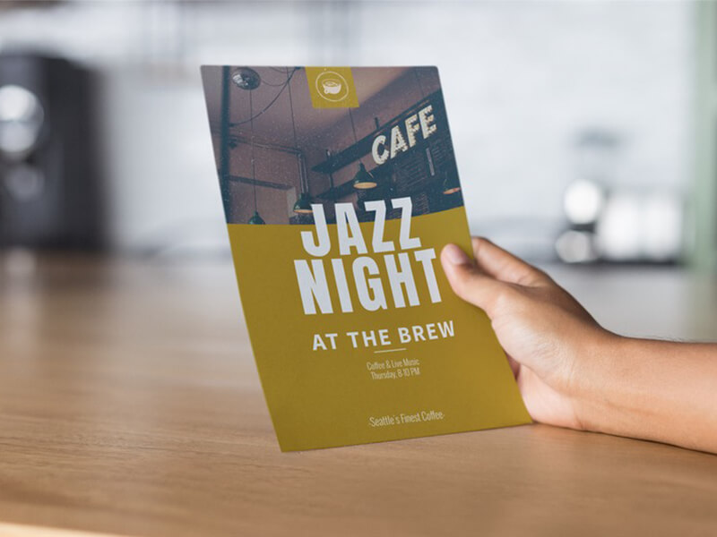 Coffee Shop Flyer On A Flyer Mockup