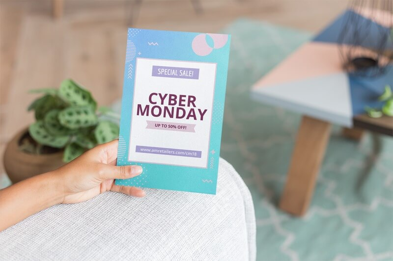 Cyber Monday Flyer Maker On A Flyer Mockup