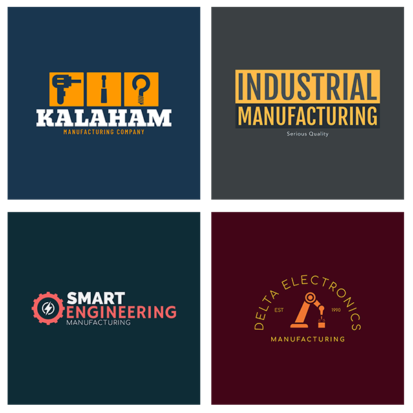 Industrial Logo Template For Manufacturing Logos