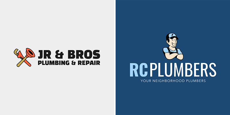 Logo Design Template For Plumbing Logos