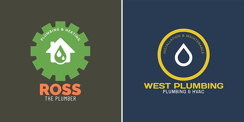 Plumbing Logo Maker With Circular Badge