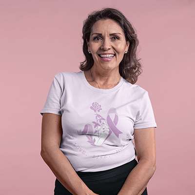Adult Woman Mockup Breast Cancer