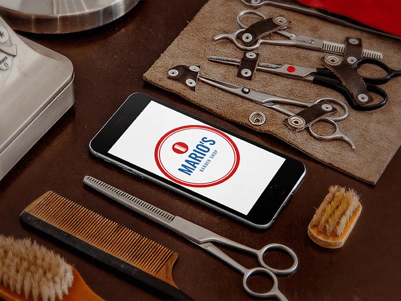 Barber Shop Mockup App
