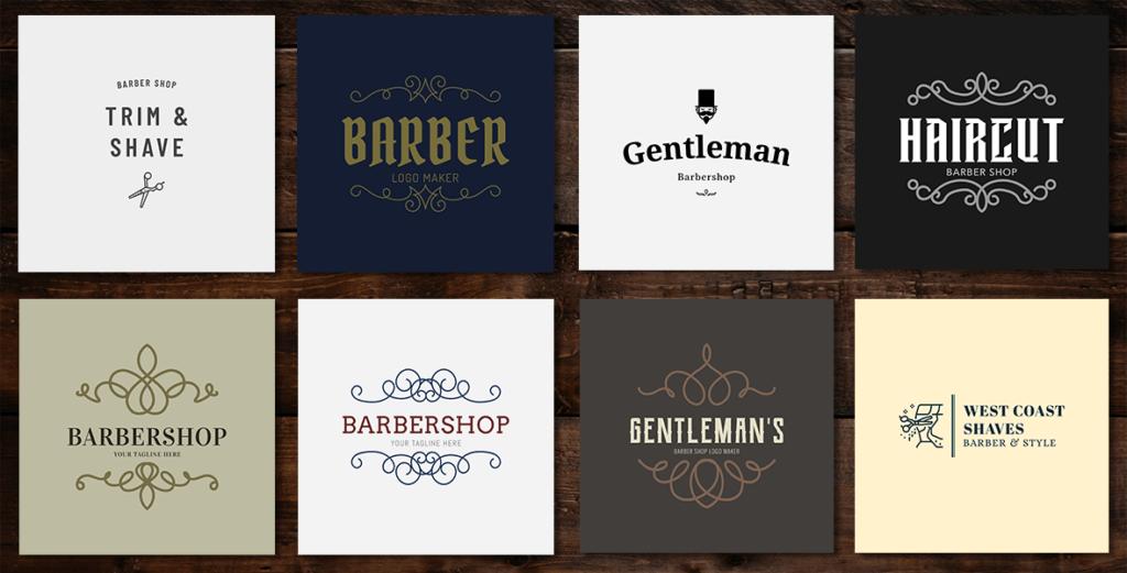 Barbershop Logo Grid
