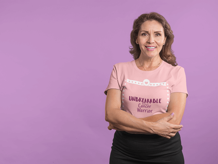 Breast Cancer Mockup Woman