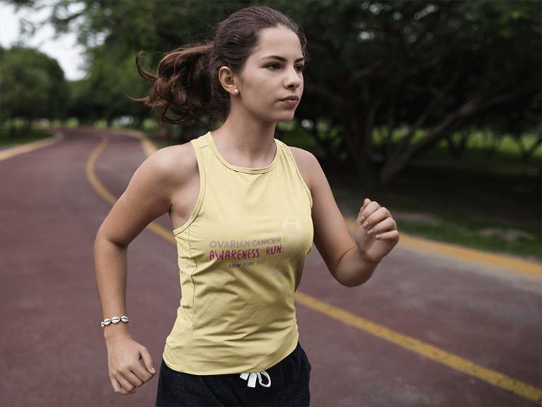 Breast Cancer Running T Shirt