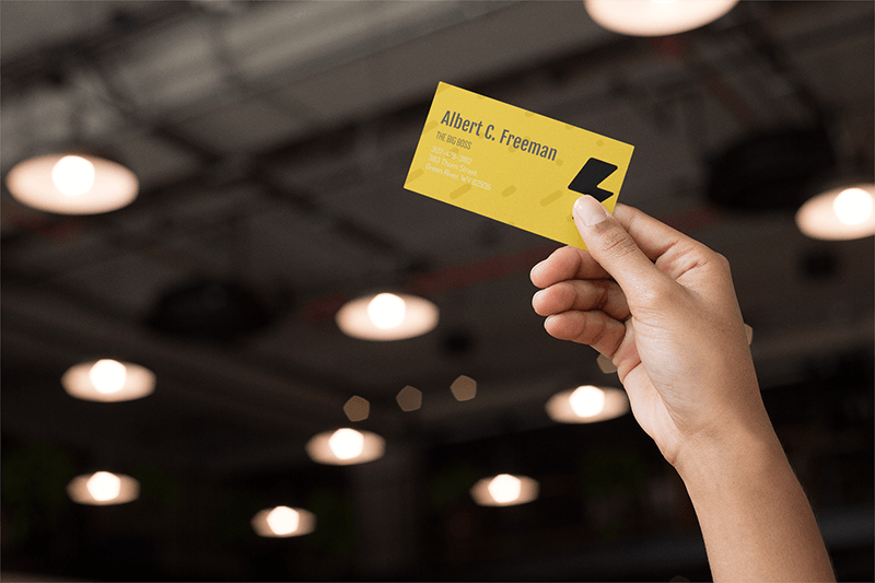 Business Card Mockup Electrical