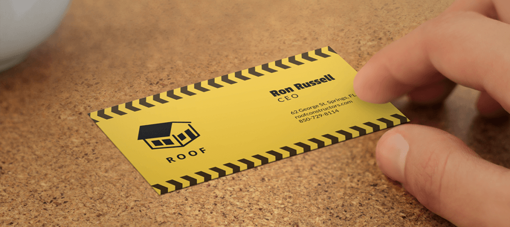 Roofing Business Card Mockup