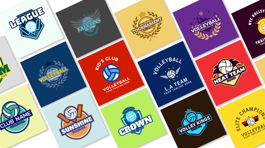 Volleyball Logo Design Cover