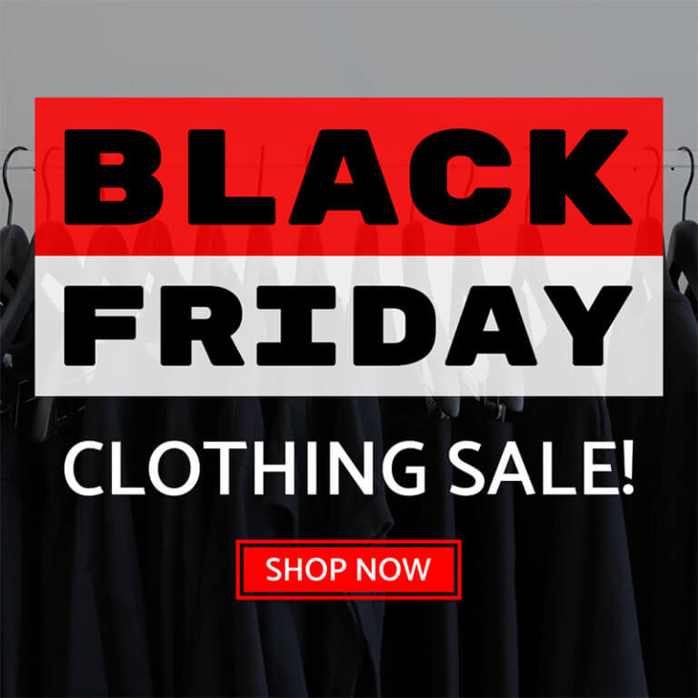 Black Friday Clothing Sale Ad Banner Maker