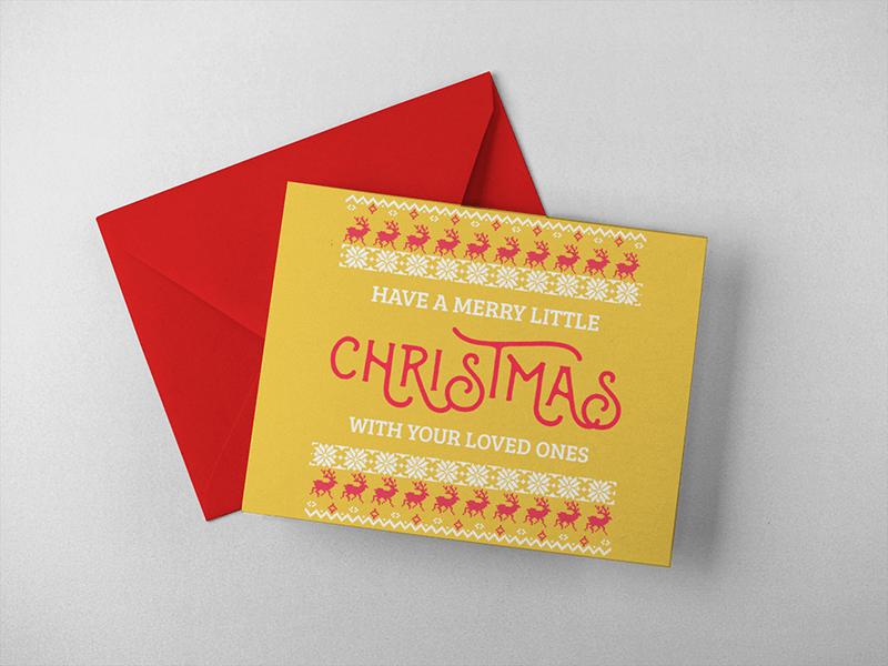 Christmas Card Envelope