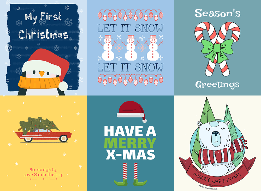 Christmas T Shirt Design Templates