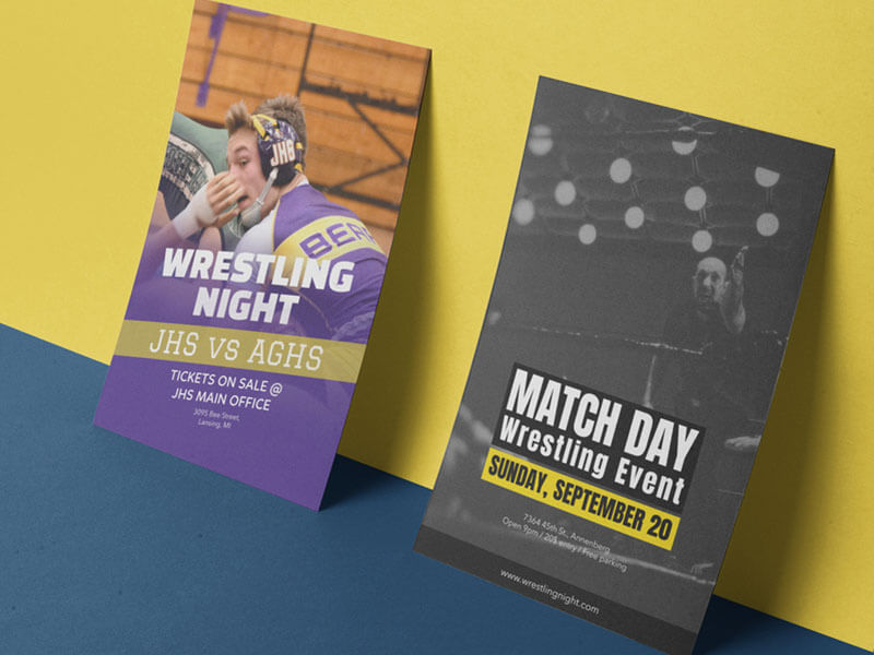 Flyer Mockup For Featuring Wrestling Flyer Designs2