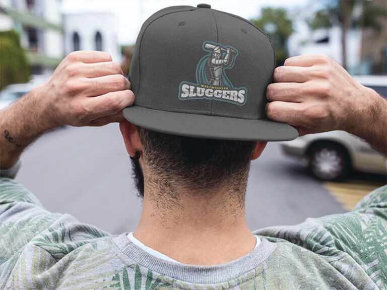 Hat Mockup With A Baseball Logo