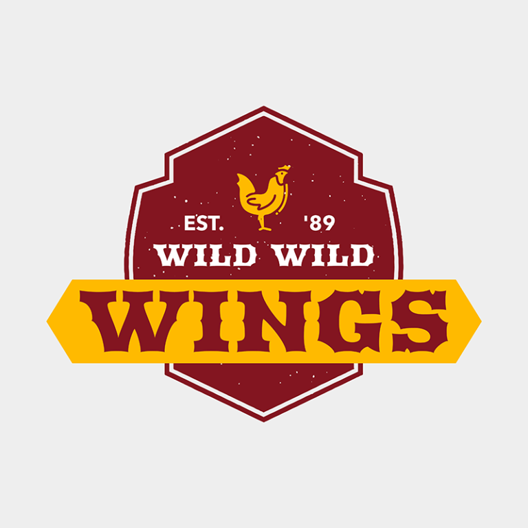 Online Logo Maker For A Chicken Wings Restaurant