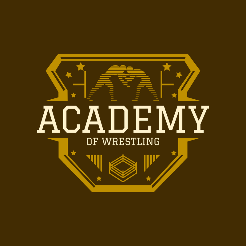 Wrestling Logo Template With Crest Design