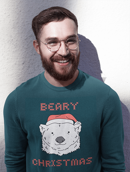 Christmas Bear Design Template