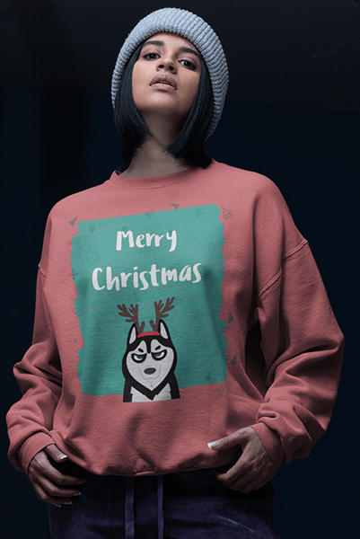 Husky Christmas Sweater