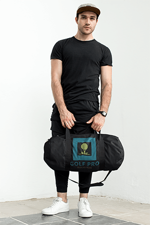 Mockup Of A Gym Bag Modeled By A Handsome Man 23057