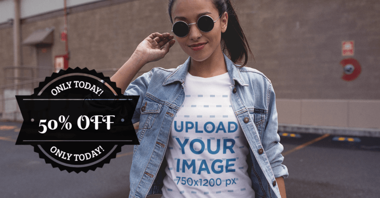 Facebook Ad Circular Badge Girl With Sunglasses 1084